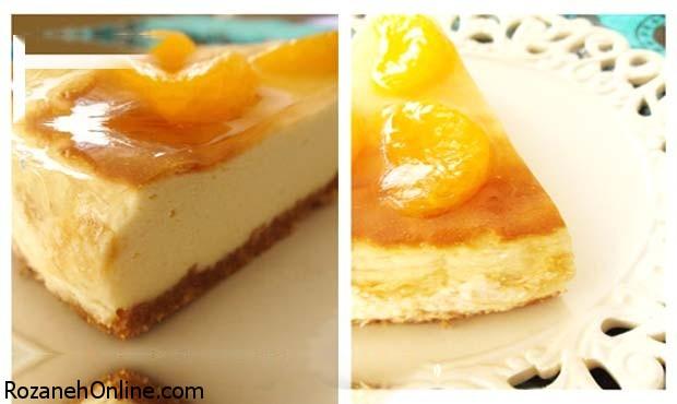 بهترین رسپی چیز کیک نارنگی با متد ترکیه