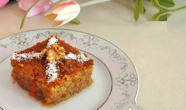 تهیه دسر با هویج و پرتغال با آرد سمولینا