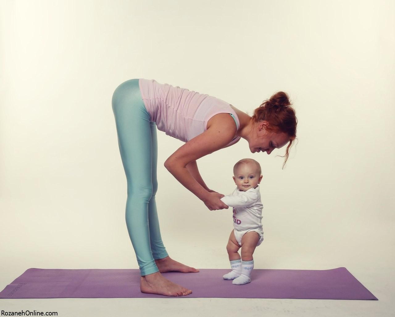 مواردی که بایستی در هنگام ورزش با نوزاد توجه کنیم