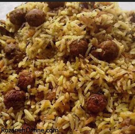 دستور پخت قنبر پلو یک غذای مشهور شیرازی