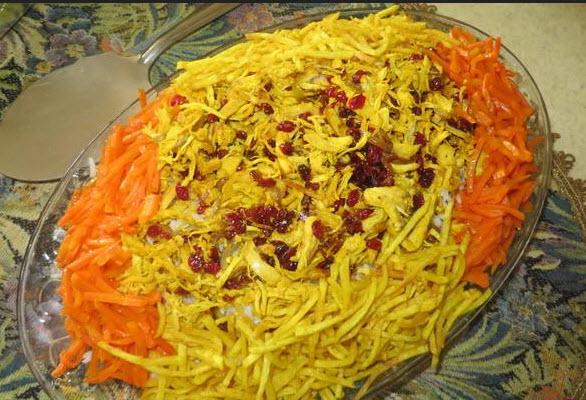 روش پخت هویج پلو با مرغ پلویی کاملا مجلسی