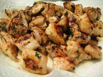 درست کردن کباب مرغ و قارچ همراه با فلفل دلمه ای