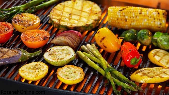 دستور پخت کباب سبزیجات مخصوص ویژه گیاهخواران