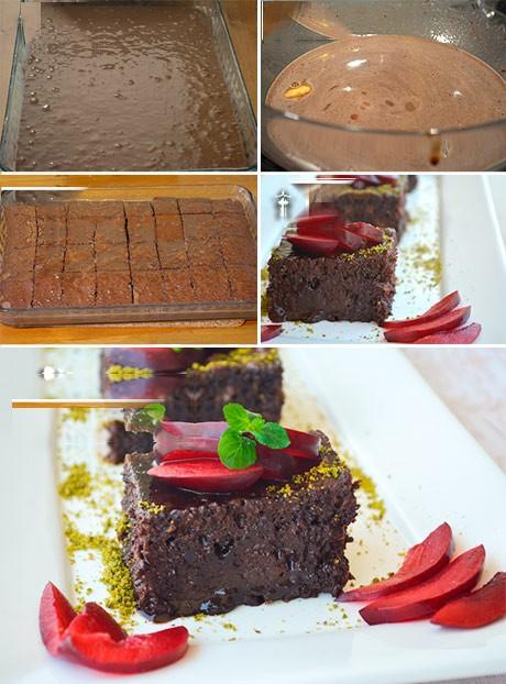 درست کردن کیک خیس به روش بن ماری با شیوه ترکیه