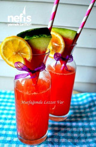 طرز تهیه لیموناد با طعم هندوانه