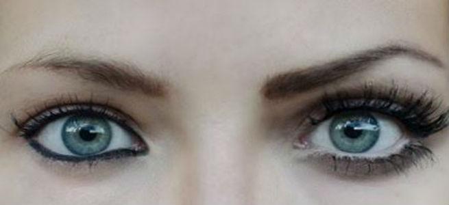 آرایش چشم های آبی