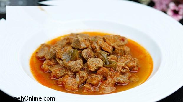 آموزش پخت نوعی غذای گوشتی در زودپز