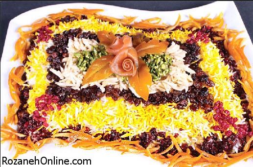 آموزش پخت مرصع پلو یک غذای رنگارنگ