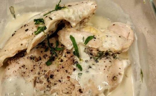درست کردن مرغ با کرم ترخون و قارچ