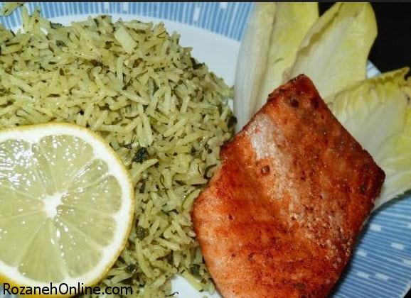 طرز تهیه سبزی پلو با ماهی همراه با سبکی کاملا متفاوت