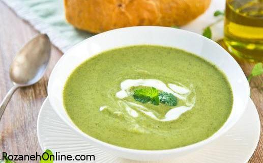 دستور تهیه سوپ کلم بروکلی با پودر جوز هندی