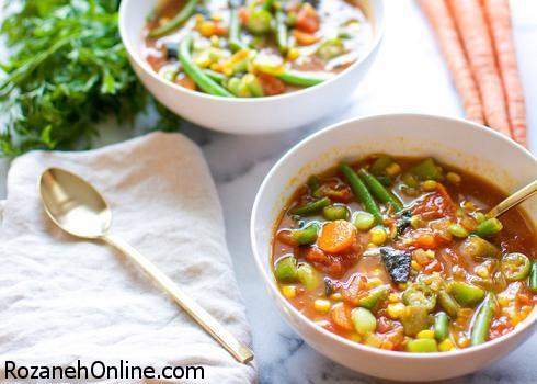 آموزش پخت سوپ سریع سبزیجات با استفاده از کنسرو