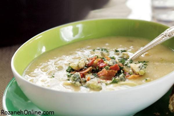 نحوه پخت سوپ سیب زمینی چینی همراه با سبزیجات