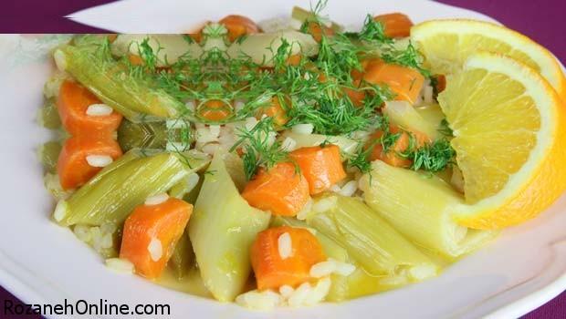 طرز پخت خوراک تره فرنگی با طعم پرتقال