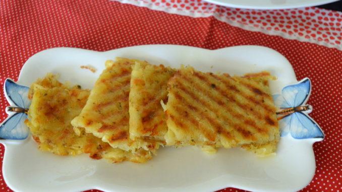 طریقه درست کردن تست  سیب زمینی در ساندویچ ساز یا تستر
