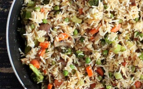 طریقه پخت برنج مخلوط سبزیجات یک برنج مشهور چینی