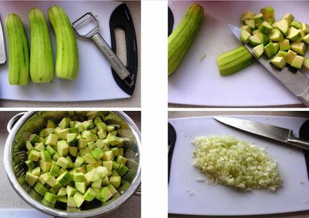 نحوه پخت خوراک کدو سبز یک غذای کم کالری