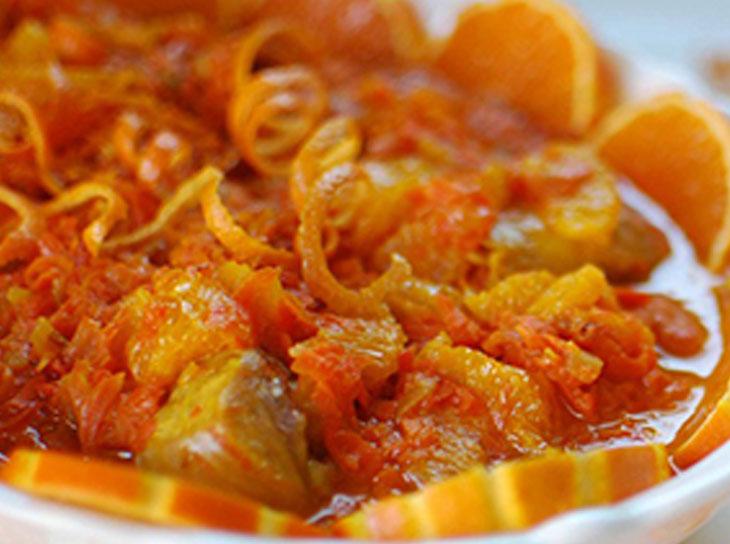 دستور پخت خورش پرتقال پاییزی با مرغ