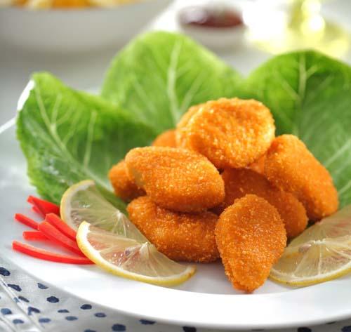 دستور پخت ناگت مرغ و سبزیجات با استفاده از پودر سوخاری