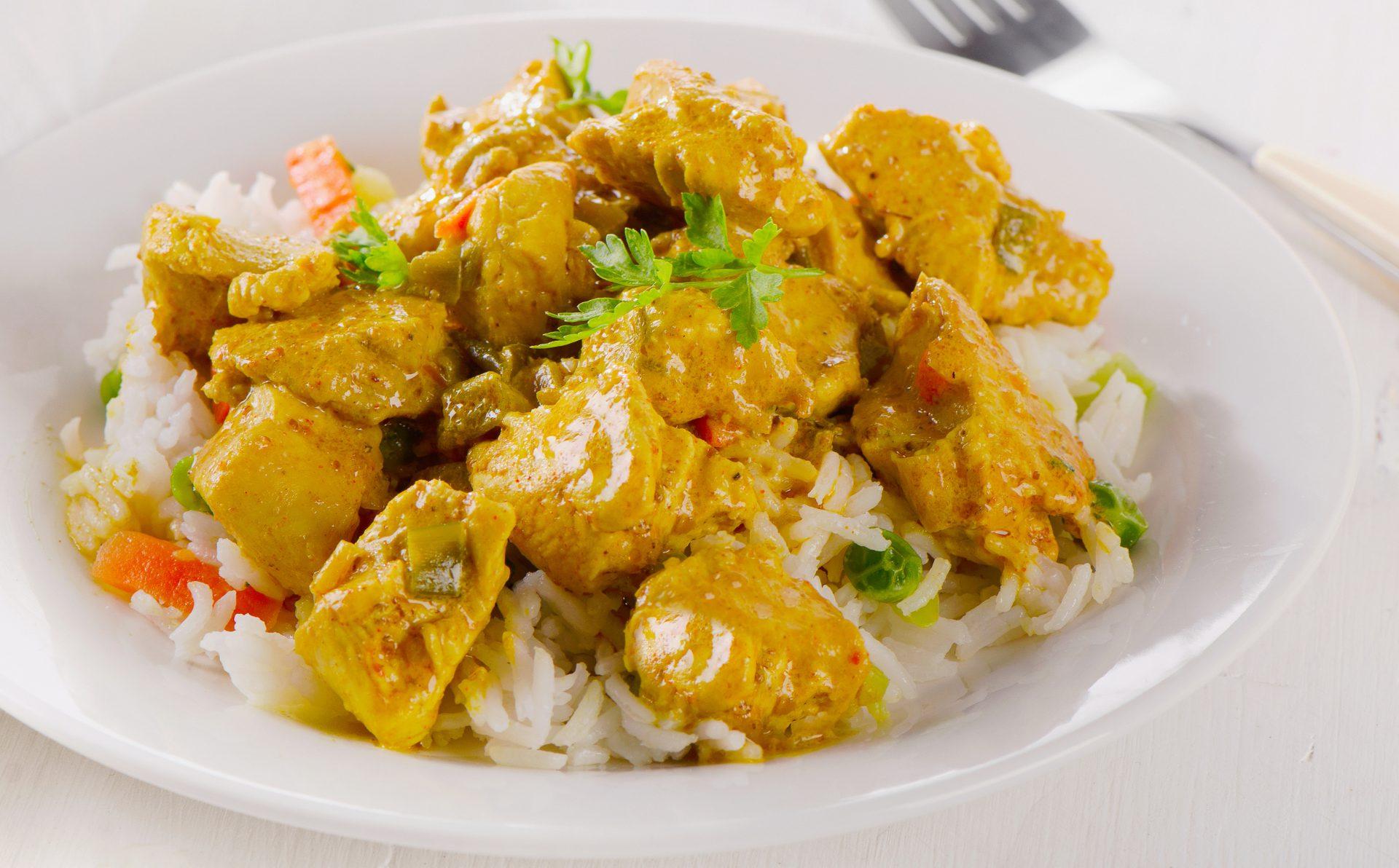 دستور پخت پلو مرغ کاری فوری یک غذای معروف هندی