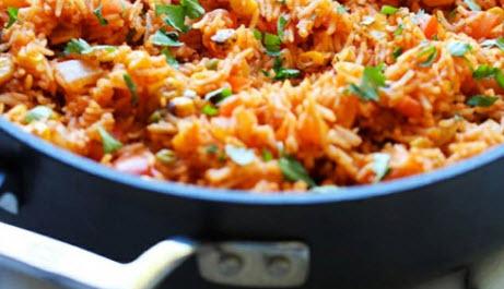 دستور تهیه پلو مکزیکی با استفاده از روغن گیاهی