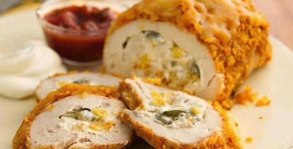 درست کردن رول مرغ شکم پر با روش زیر