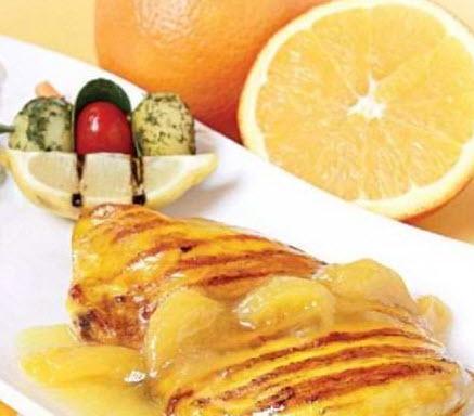 مزه دار کردن سینه مرغ با سس پرتقال و عسل