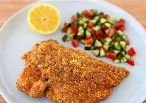 آموزش پخت شنیتسل ماهی یک غذای بسار خوش طعم