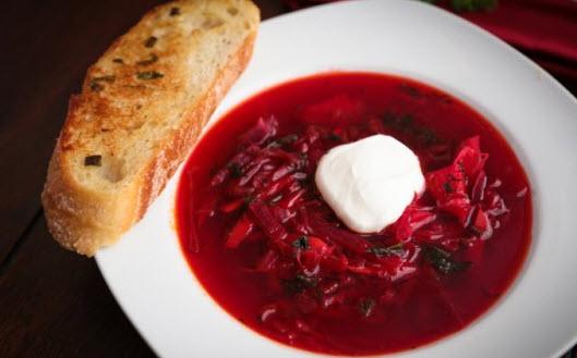 آموزش پخت سوپ برش روسی همراه با چغندر