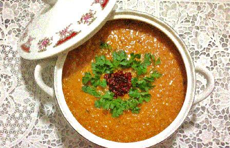 طرز تهیه سوپ دال عدس با استفاده کردن از برنج نیم دانه