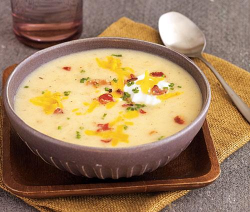 درست کردن سوپ سیب زمینی سرشار از نشاسته