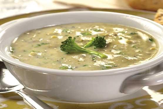 دستور پخت سوپ اسفناج با استفاده از شیر و آب مرغ