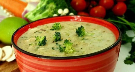 طرز پخت سوپ کلم بروکلی با لیموترش همراه با آب سبزیجات