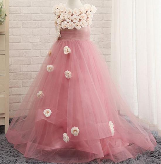 عکس از مدل لباس مجلسی دخترانه بچه گانه بلند جدید