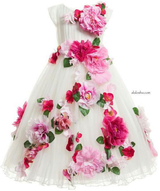 انواع رنگهای شاد مدل لباس مجلسی شیک و جدید بچه گانه