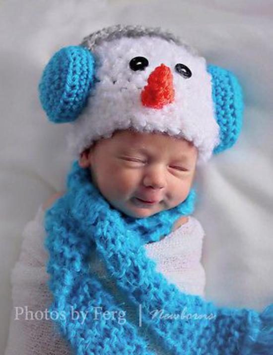 عکس از مدل کلاه شال گردن نوزادی جدید