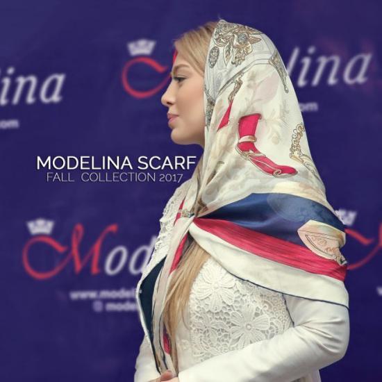 تبلیغات سحر قریشی برای برند روسری و شال خود