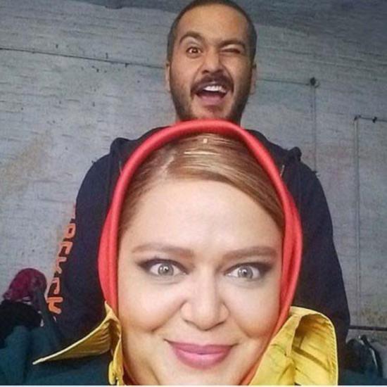 عکس بامزه بهاره رهنما و ميلاد كیمرام