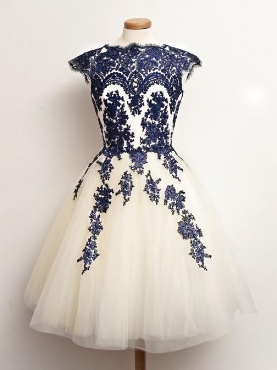 مدل لباس مجلسی جدید با تور دانتل برای عروسی اقوام نزدیک