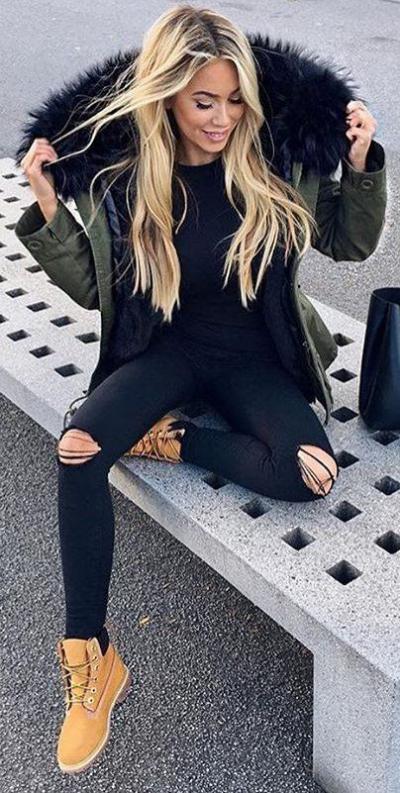 مدل تیپ زمستانی دخترانه مدرن با طراحی جدید و زیبا