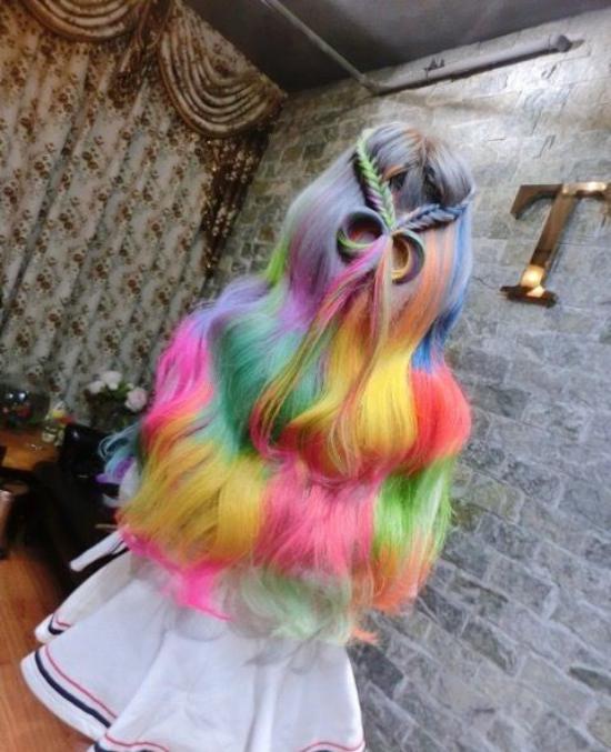 رنگ مو فانتزی جدید برای خانم ها ودختران جوان