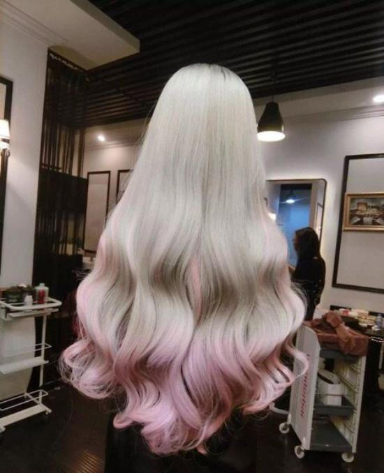 رنگ مو فانتزی بدون دکلره با طرح جدید و جذاب