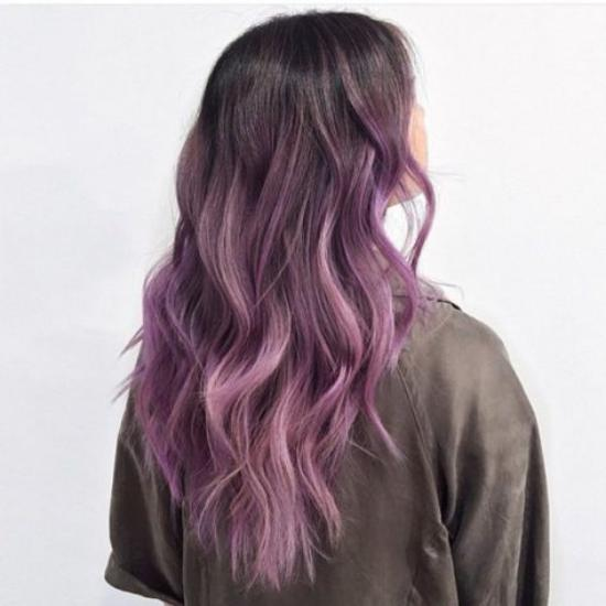 رنگ مو فانتزی دخترانه مجلسی بسیار شیک و جذاب