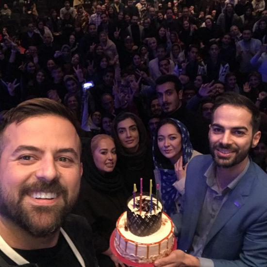 جشن تولد گرفتن نیکی کریمی برای هومن سیدی
