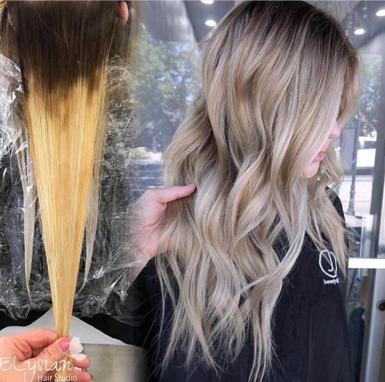 تصاویری از مدل رنگ موی آمبره در سال 2018