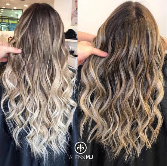 تصاویری فوق العاده شیک از مدل رنگ موی جدید 2018