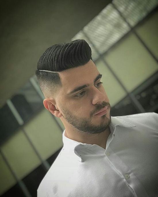 مدل موی پسرانه برای صورت بیضی جدید و زیبا