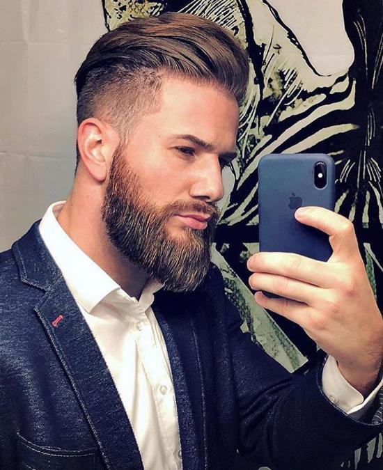 مدل مو مردانه فرق وسط جدید و بسیار زیبا