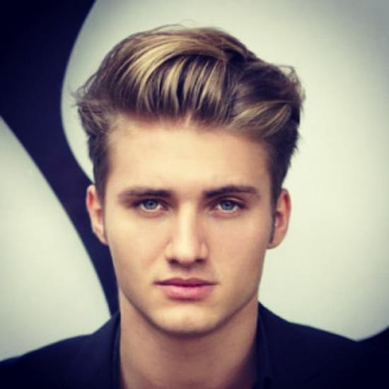 مدل مو مردانه برای صورت گرد و تپل مجلسی و جذاب