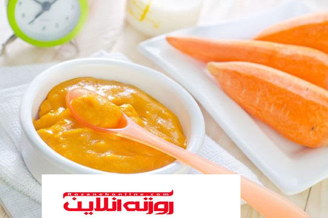 سوپ برای نوزادان چهار ماهه